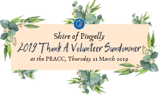 Shire of Pingelly, Thank A Volunteer Sundowner, 2019