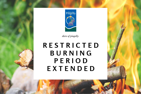 Restricted Burning Period Extended
