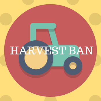 Harvest Ban Christmas Day, Boxing Day, New Years Day