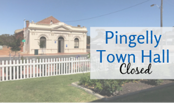 Pingelly Town Hall - No Longer Taking Bookings