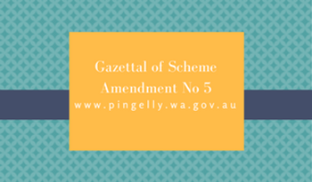 Gazettal of Scheme Amendment No 5