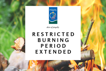 Restricted Burning Period Extended to 26th April 2018