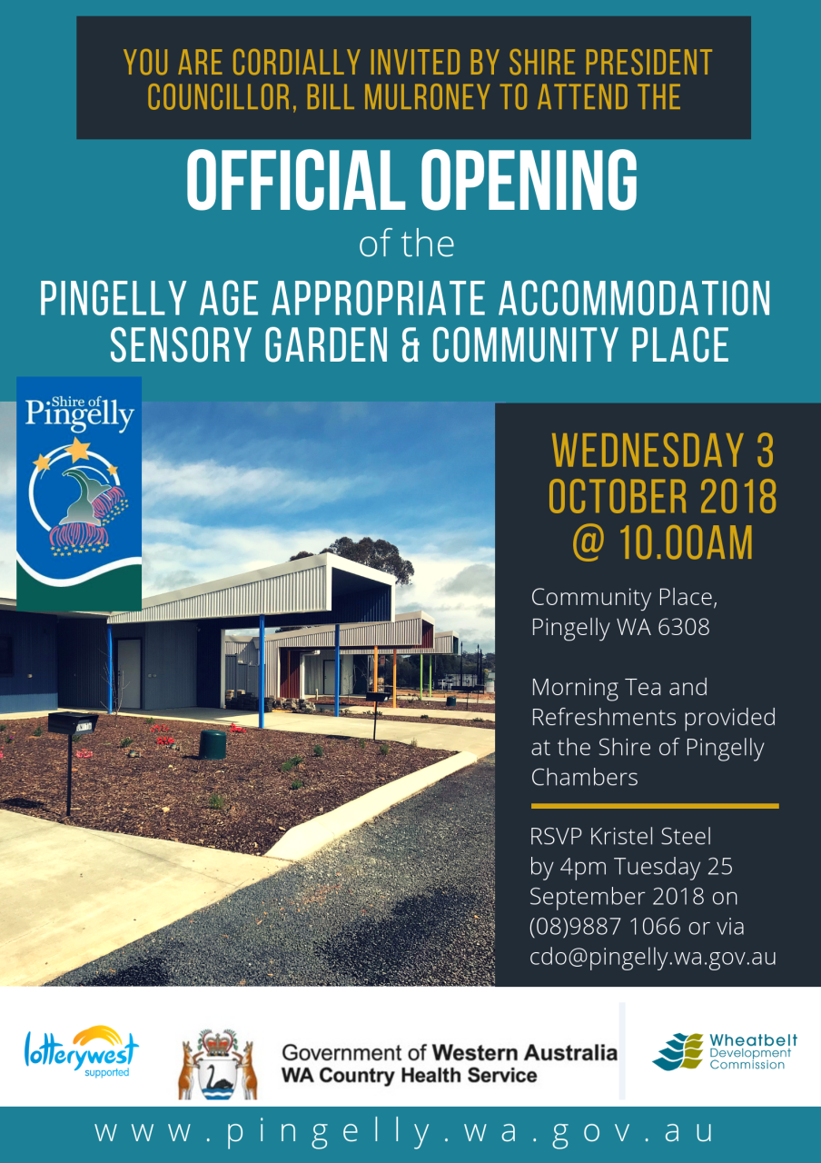 Pingelly Age Appropriate Accommodation Opening
